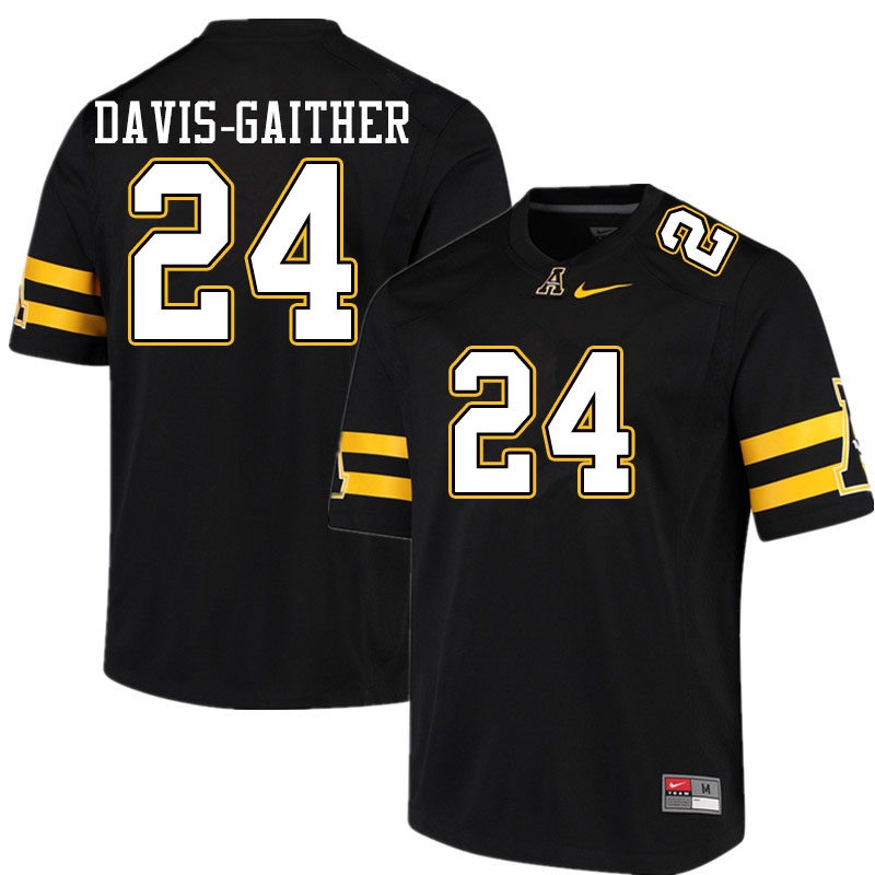 Men #24 Akeem Davis-Gaither Appalachian State Mountaineers College Football Jerseys Sale-Black