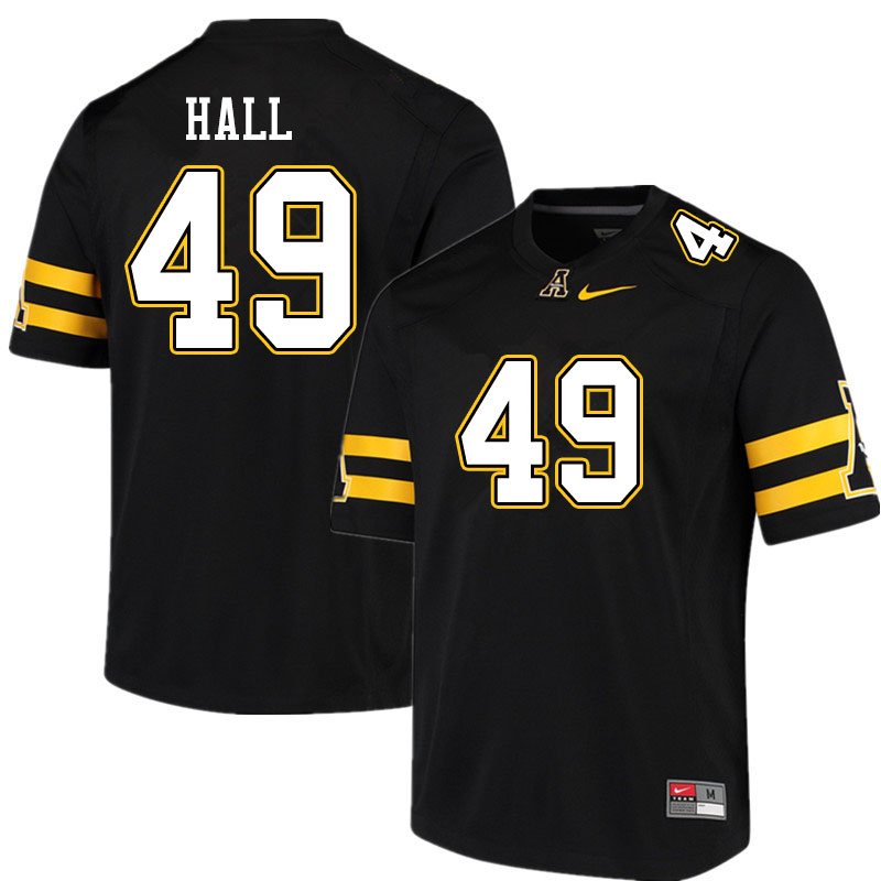 Men #49 Blythe Hall Appalachian State Mountaineers College Football Jerseys Sale-Black
