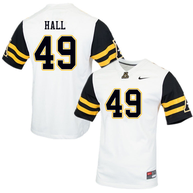 Men #49 Blythe Hall Appalachian State Mountaineers College Football Jerseys Sale-White