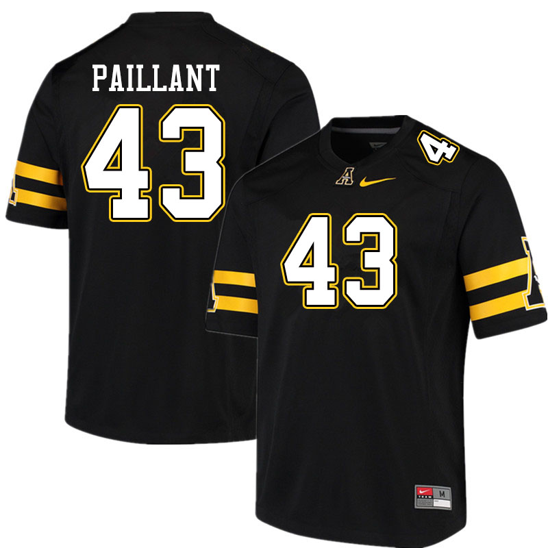 Men #43 Hansky Paillant Appalachian State Mountaineers College Football Jerseys Sale-Black