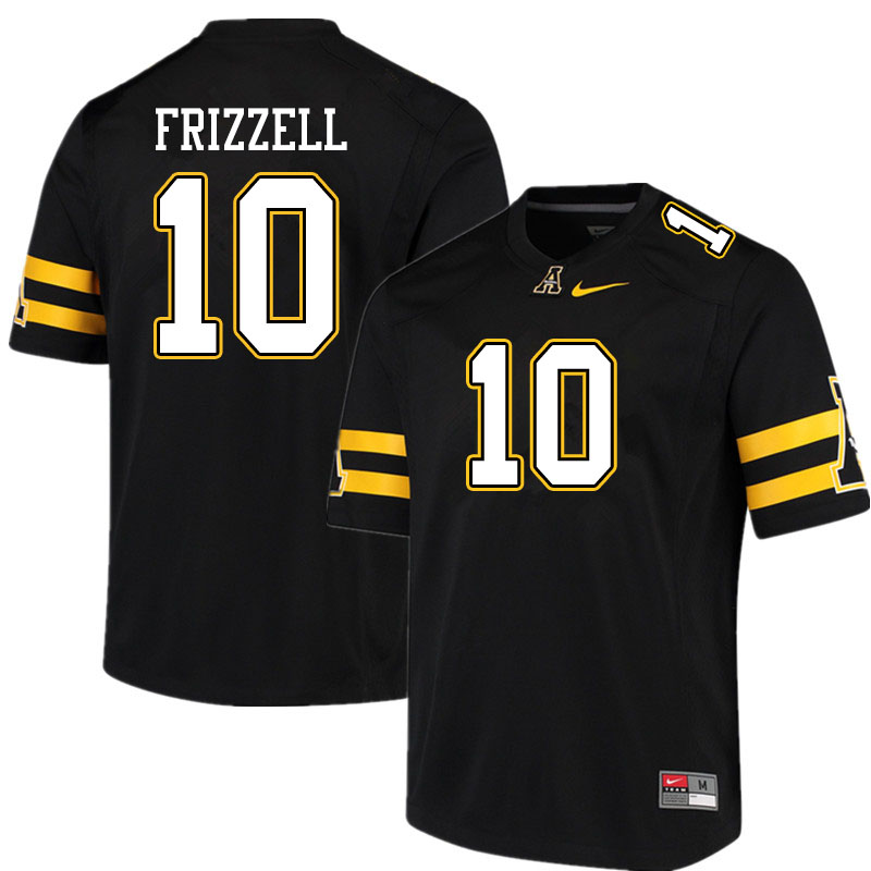 Men #10 Tim Frizzell Appalachian State Mountaineers College Football Jerseys Sale-Black