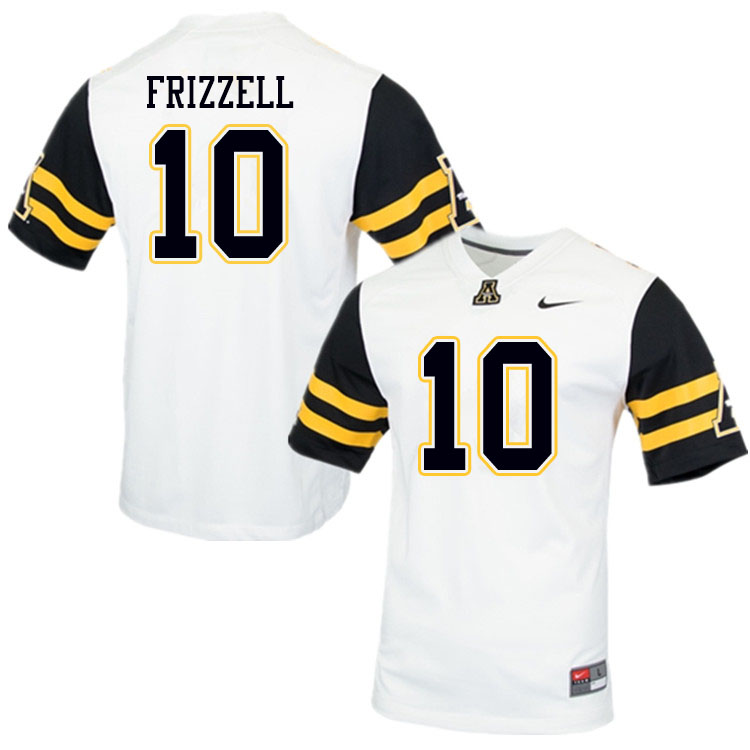 Men #10 Tim Frizzell Appalachian State Mountaineers College Football Jerseys Sale-White