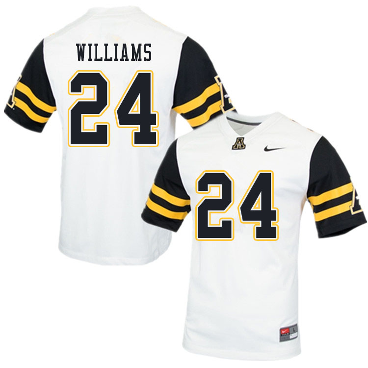 Men #24 Ben Williams Appalachian State Mountaineers College Football Jerseys Sale-White