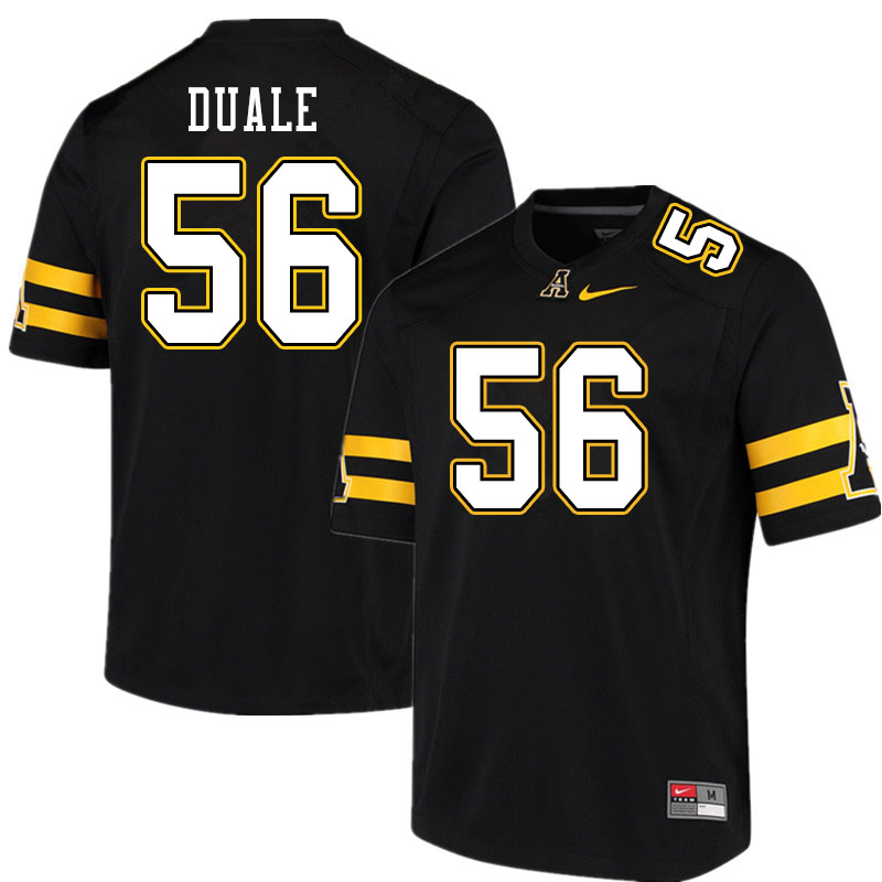 Men #56 Guled Duale Appalachian State Mountaineers College Football Jerseys Sale-Black