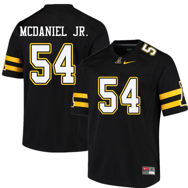 Men #54 Jermaine McDaniel Jr. Appalachian State Mountaineers College Football Jerseys Sale-Black