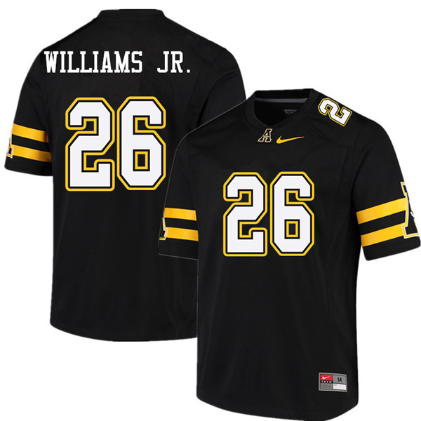 Men #26 Marcus Williams Jr. Appalachian State Mountaineers College Football Jerseys Sale-Black