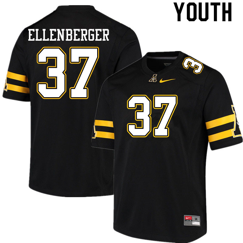 Youth #37 Tanner Ellenberger Appalachian State Mountaineers College Football Jerseys Sale-Black