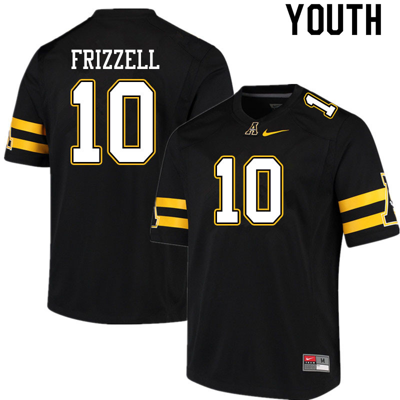 Youth #10 Tim Frizzell Appalachian State Mountaineers College Football Jerseys Sale-Black