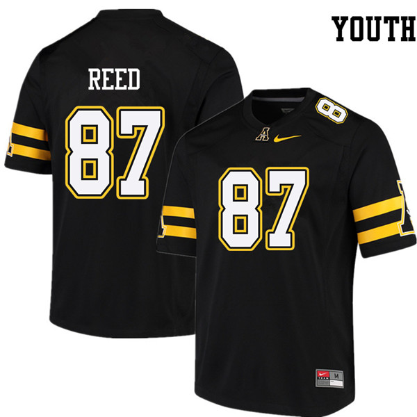 Youth #87 Collin Reed Appalachian State Mountaineers College Football Jerseys Sale-Black
