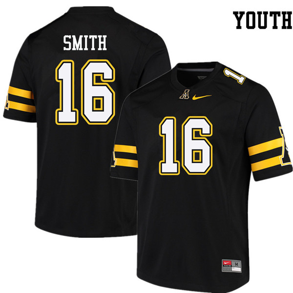 Youth #16 De'Vonta Smith Appalachian State Mountaineers College Football Jerseys Sale-Black
