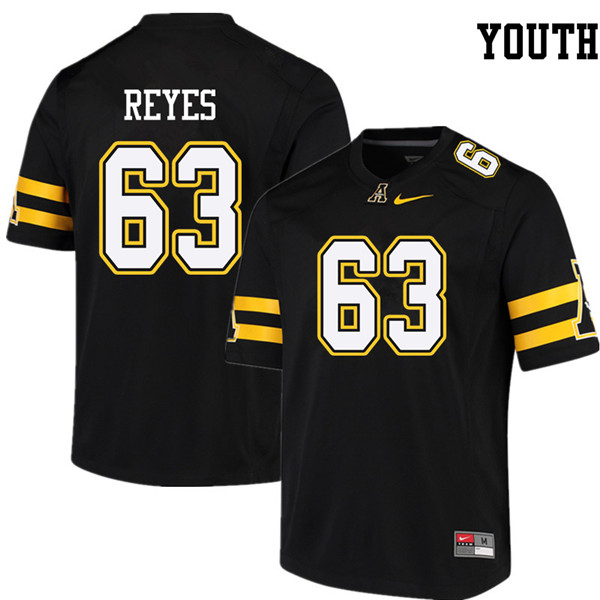 Youth #63 Ivan Reyes Appalachian State Mountaineers College Football Jerseys Sale-Black