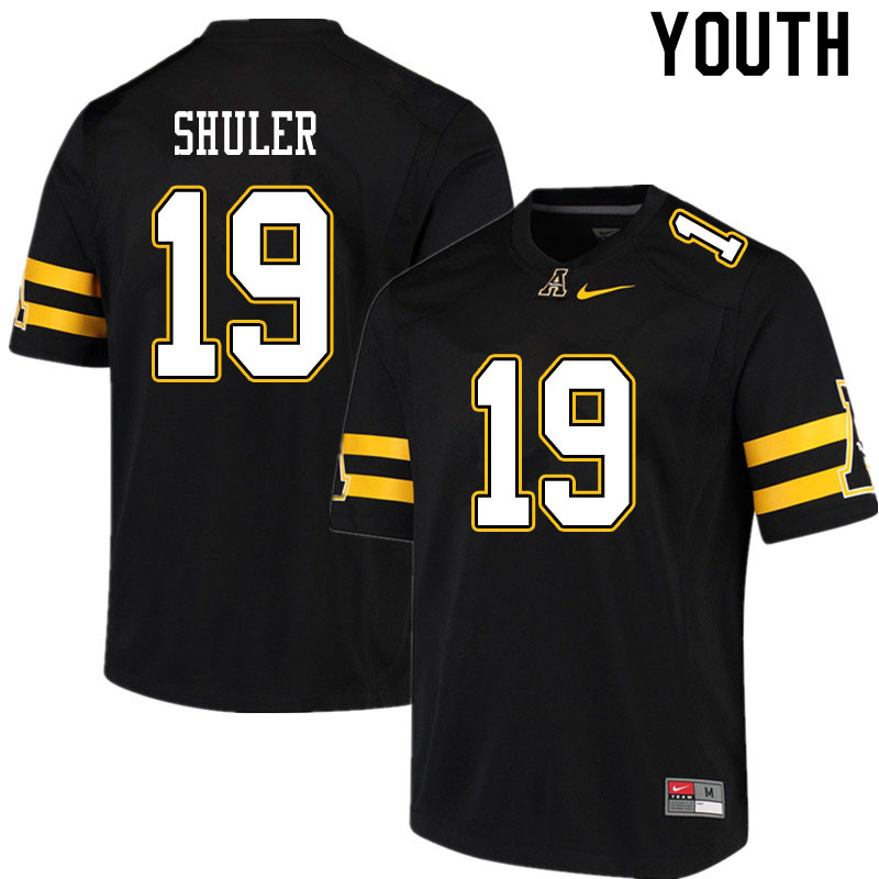 Youth #19 Navy Shuler Appalachian State Mountaineers College Football Jerseys Sale-Black