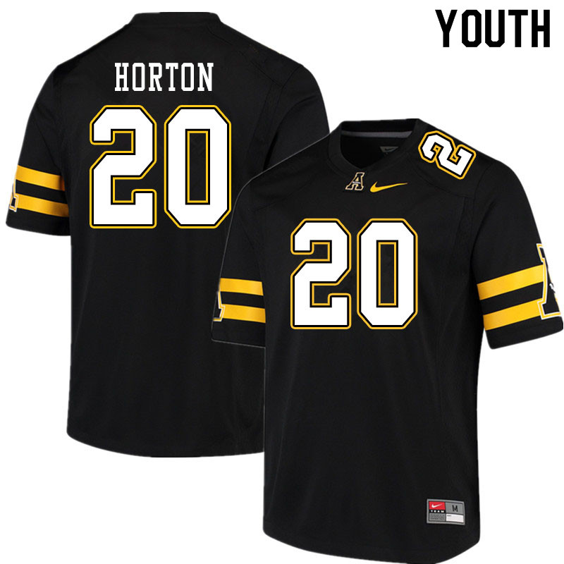 Youth #20 Sean Horton Appalachian State Mountaineers College Football Jerseys Sale-Black
